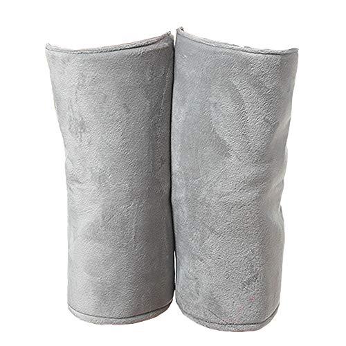 Knie Kompressionsmanschette Knieschützer Elektrische Knieschützer Geschwindigkeit Wärme Sicherheit Warme Männer und Frauen Knieschutzausrüstung (2er Pack) Arthritis Knieschoner (Farbe : Gray) -