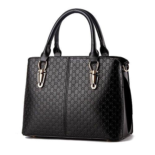 koson-man-damen-einfache-sling-tote-taschen-top-griff-handtasche-schwarz-schwarz-kmukhb223