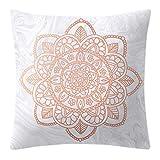 wenjuersty - Funda de cojín Decorativa, diseño geométrico de piña con Lunares, Color Oro Rosa
