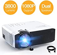 Projector APEMAN Mini Portable Video Projector 3500 Lumen LED with Dual Built-in Speakers 45000 Hours Support