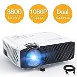 Beamer APEMAN Mini Beamer 3800 Lumen 1080P Full HD Unterstützt...