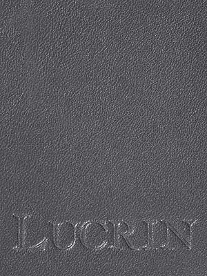 Lucrin - Etichetta per valigia rotonda (9 cm) - Grigio marrone - Pelle Liscia Grigio Topo