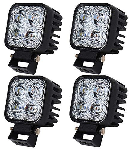 12W LED Lampe square Scheinwerfer kaltweiß Spot IP67 Arbeitsscheinwerfer (4) - Atv Akku-halterung