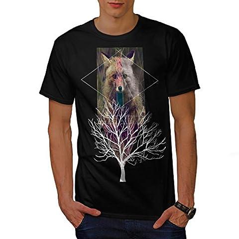Fox Tree Wild Life Nature Men XL T-shirt | Wellcoda