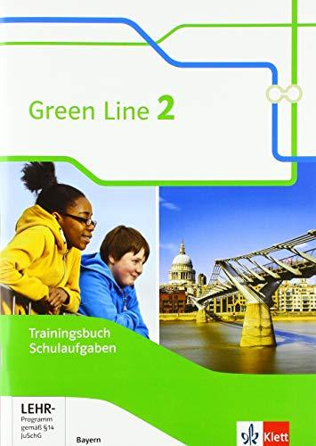 Green Line 2. Ausgabe Bayern: Trainingsbuch Schulaufgaben, Heft mit Lösungen und CD-ROM Klasse 6 (Green Line. Ausgabe für Bayern ab 2017)