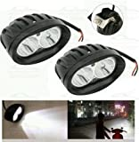 #8: Andride 2 Pcs of White Oval Shape 20 Watt Cree car / Bike led fog light bar Waterproof (White)