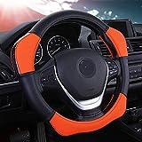Universal Anti Rutsch Atmungsaktive Lenkradbezug Leder Lenkradhülle Lenkradabdeckung Lenkradschoner Auto,Dimension:36-40cm