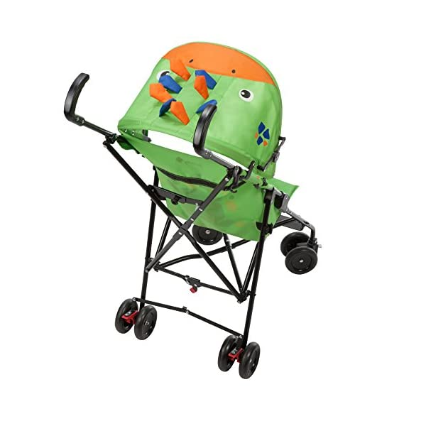 Safety 1st Buggy Crazy Peps Spike Green Pram Stroller Baby Cart 1187540000  Fun design on the canopy with 3d decorations Lightweight, only weighing 4.5kg so it's easy to carry Suspension on front wheels for a smooth ride 3