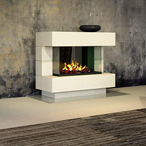 muenkel design London 1100 OPTI-GLO - Chimenea eléctrica (luz Blanca cálida, sin...
