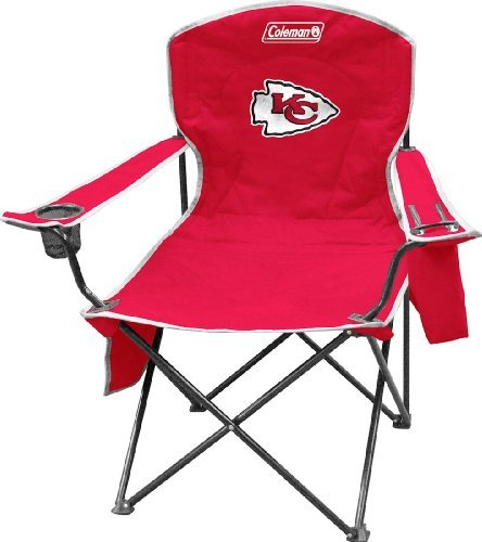 Coleman NFL Cooler Quad Folding Tailgating & Camping Chair with Built in Cooler and Carrying Case, Kansas City Chiefs