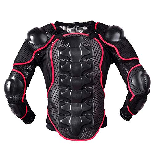 ALZHP Herren Protektorenjacke, Motorrad Vollkörper Rüstungsschutz, Schutzhemd Jacke, Motocross/Enduro/Sport Mit Protektoren,M