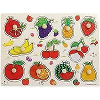 TOYMYTOY Puzzle de Madera Puzzle Siluetas Juguete Educativo Aprendizaje para Bebé Niños (Fruta)