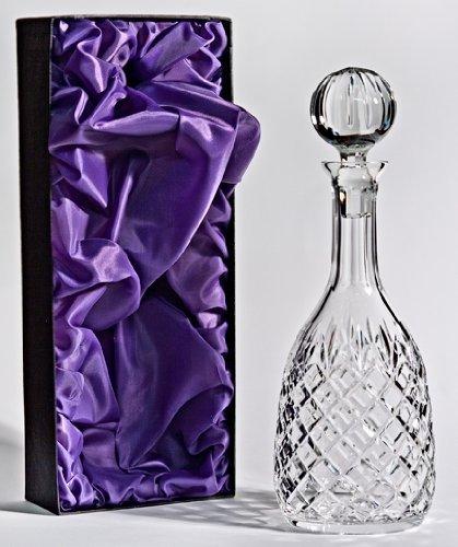 Kristall Wein / Port Dekanter - in mit Seide ausgekleideter Geschenkverpackung