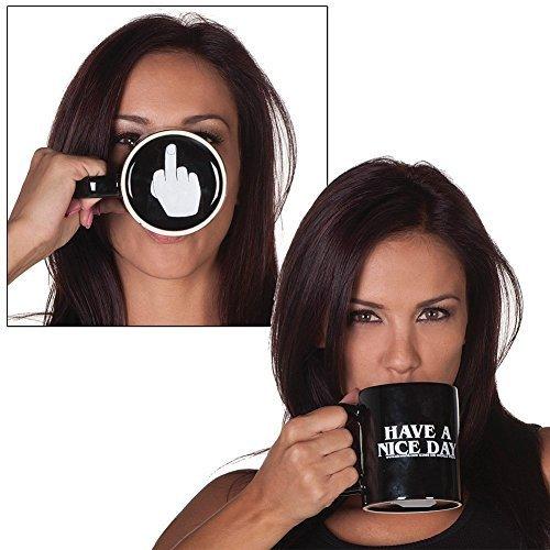 eGadget Yours Up 3D «Have a Nice Day Cursing Humour Funny Mug. présenté dans un coffret cadeau.