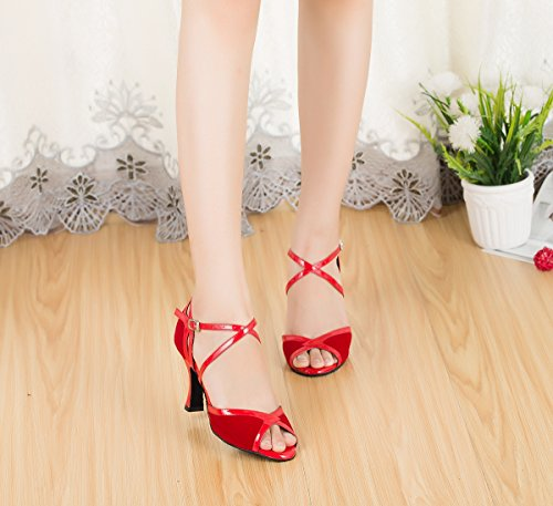Miyoopark ,  Damen Tanzschuhe Red-8cm Heel