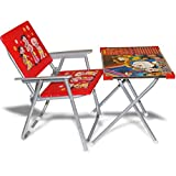 Imtion Combo Chiar And Table For Kids Study / Dining Table Multipurpose Use 1 To 6 Year Old Age Red Color Baby Table Chair (Red Chair Table + Free Coloring Book For Kids)