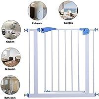 coorun Baby Safety Gate Escaleras rejilla Barrera rejilla, montaje sin tornillos, fijación sin agujeros, con puerta, Azul, 28x 30,7pulgadas con 30cm verlängerungskit