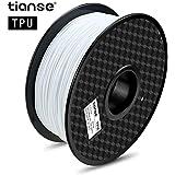 TIANSE Filamento TPU per Stampanti 3D, 1,75 mm, 1 KG, Precisione Dimensionale +/- 0,03 mm, Spool per Stampante 3D (2,2 lbs), 3D Printer Filament for 3D Printers & 3D Pens,