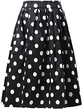 GRACE KARIN Mujer 1950s Estilo Retro Plisada Falda de la Rodilla Falda Corta de Alta Cintura CL010401