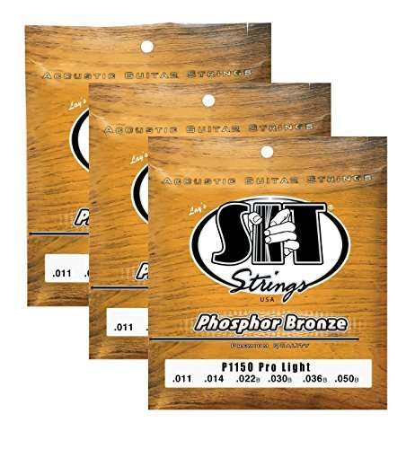 Pro Hex Set (s.i.t. Saiten P1150Pro Light, Phosphor Bronze Acoustic Guitar Strings-3Sets)