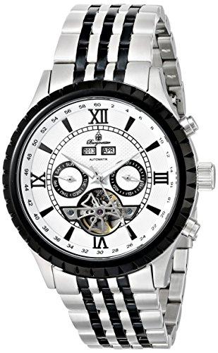 Burgmeister Armbanduhr für Herren mit Analog Anzeige, Automatik-Uhr mit Edelstahl Armband - Wasserdichte Herrenuhr mit zeitlosem, schickem Design - klassische Uhr für Männer - BM327-187 Denver