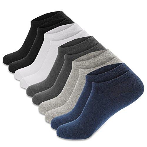 Cassiecy 5 Paar Sneaker Socken Herren Damen Kurze atmungsaktiv Baumwolle Sportsocken (39/44, Z_Colorful / 10 Paar)