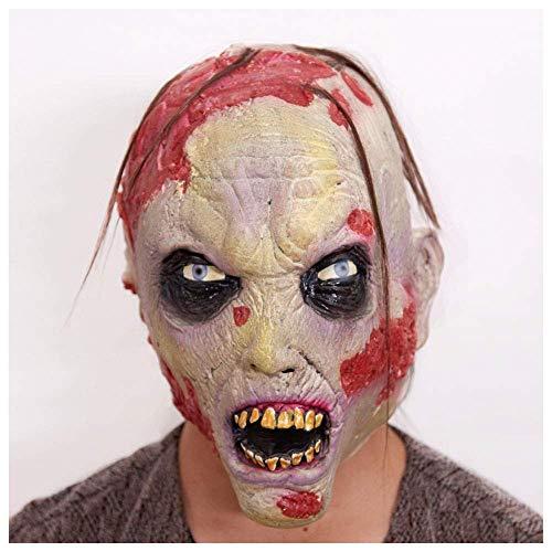 YaPin Volles Latex-schlechtes Gesichts-Zombie-Kopfbedeckungen Scary Halloween-Party-Leistungs-Props-Horror-Maske