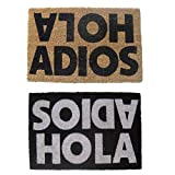 Felpudo original de fibra de coco y base de goma diseño hola adios (N..