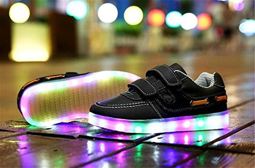 Farbe C14 Sportschuhe Unisex Usb Handtuch junglest® Leuchtend Schuhe 7 erwa present Turnschuhe Für kleines Led Sport Aufladen High Sneaker Top IASwqnH