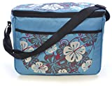 Large Family 26 Can 18 Litre Picnic - Cool Bag With Shoulder Strap Blue Floral