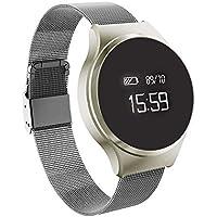 BreLINE Pulsera Actividad Pulsómetro y Podómetro Podómetro/Monitor de Dormir/Monitor de Calorías/Llamada& SMS Alerta Pulsera Inteligente Soporte para Android Samsung Huawei Sony Reloj Deportivo