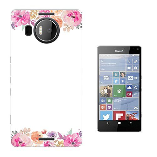 002820 - Shabby Chic Colourful Floral Rosess Boarder Floral Roses flowers Design Microsoft Nokia Lumia 950 XL Fashion Trend Silikon Hülle Schutzhülle Schutzcase Gel Rubber Silicone Hülle