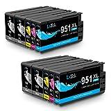 LxTek kompatibel Ersatz für HP 950XL 951XL Druckerpatronen für HP OfficeJet Pro 8610 8600 8620 8100 251dw 8630 8625 8615 (4 Schwarz/ 2 Cyan/ 2 Magenta/ 2 Gelb)