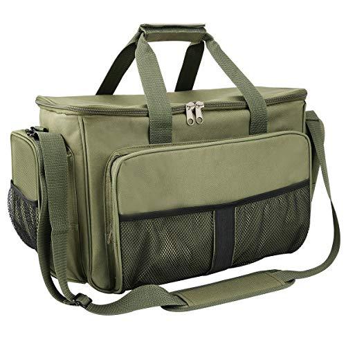 Powcan pesca carryall bag pesca bag borsone tackle sacchetti di immagazzinaggio multifunzionale outdoor sports bag grande capacità di pesca tackle storage bag impermeabile