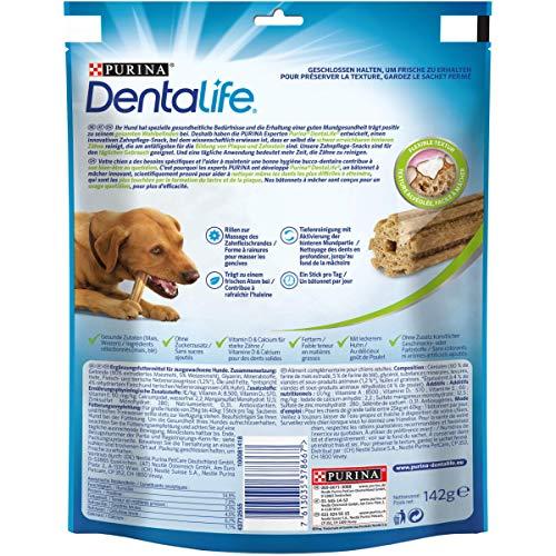Purina DentaLife Maxi Tägliche Zahnpflege-Snacks für große Hunde, 5er Pack (5 x 142 g) - 2
