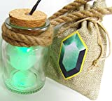Link Cosplay HEY LISTEN! Fee in Flasche mit LED GRÜN und Rubinbeutel