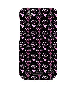 Printvisa Premium Back Cover Diamond Shaped Pink And Black Pattern Design For Acer Liquid Z630