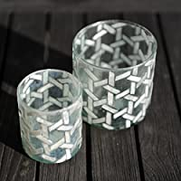 Madre di Pearl Mosaico Tealight piccola o Med (Set di 3), small