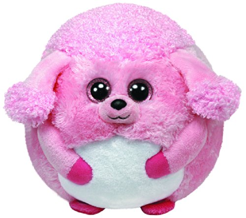TY 38028 - Beanie Ballz Lovey Ball Pudel, 12 cm, (Rosa Pudel)