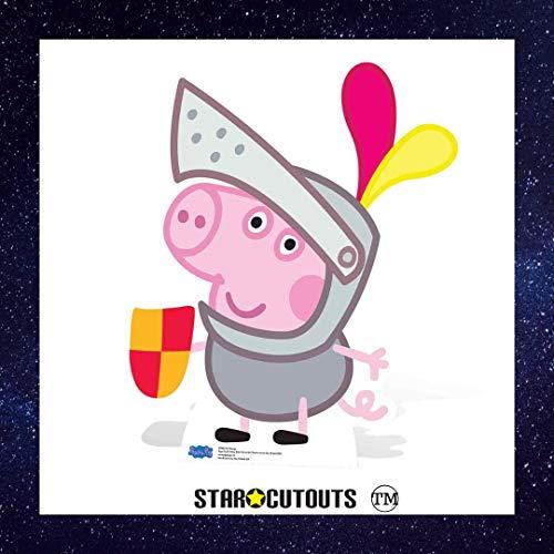 Star Cutouts Sir George SC960 - Figura decorativa (79 cm), diseño de Peppa Pig, multicolor