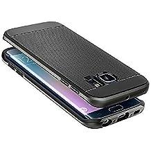 Carcasa Neo Hybrid para Samsung Galaxy S6EDGE PLUS/G928F funda antigolpes Slim Armor SGP Case, compatible con Samsung Galaxy S6 Edge, color negro