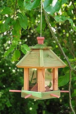 Vogelhaus,Futterhaus-Futterstation,mit / ohne Beleuchtung Garten,wetterfest HELLBRAUN LASIERT robust,stabil,Vogelhäuser Vogelhaus,Futterhaus-Futterstation+Vogelhaus