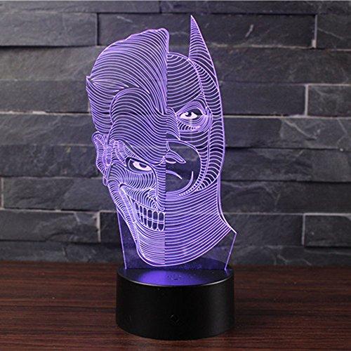 3D Optische Illusions-Lampen NHsunray LED 7 Farben Touch-Schalter Ändern Nachtlicht Für Schlafzimmer Home Decoration Hochzeit Geburtstag Weihnachten Valentine Geschenk Romantische Atmosphäre (doppelseitiger Mann)