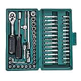 Homcom 59/94/108-tlg. Werkzeug Set Satz Steckschlüssel Kasten Kfz Werkzeugkoffer Knarrenkasten (Modell 1)