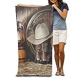 hat pillow Bath Towel Happy Western Life Creative Patterned Soft Beach Towel 31