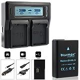 Blumax Akku für Nikon EN-EL14 / EN-EL14a 1050mAh + Doppelladegerät für EN-EL14 / EN-EL14a Dual Charger |kompatibel mit Nikon DF-D3100-D3200-D3300-D3400-D5200-D5300-D5400-D5500 | Coolpix P7000-P7100-P7700-P7800