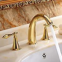 BASCJ ottonerubinetto del bagno,Contemporanea diffusa con valvola in ceramica due
