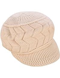 5ab8f81942c4f Mujer Vintage elegante Lana Boina Gorro Invierno Cálido Color sólido  Sombrero de…