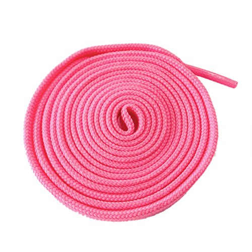 McLaces 1 Paar Schnürsenkel 21 Farben auch Neon 135-140 cm, ca. 10 mm breit (rosa)