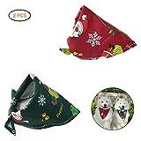 Lispeed Haustier Dreieck Schal Weihnachten Hundehalsband Hund Bandanas mit Dreieckstuch Hunde Halstuch Halsbänder Einstellbar Haustierhalstuch Verstellbar für Kleine Mittelgroße Hunde Katze